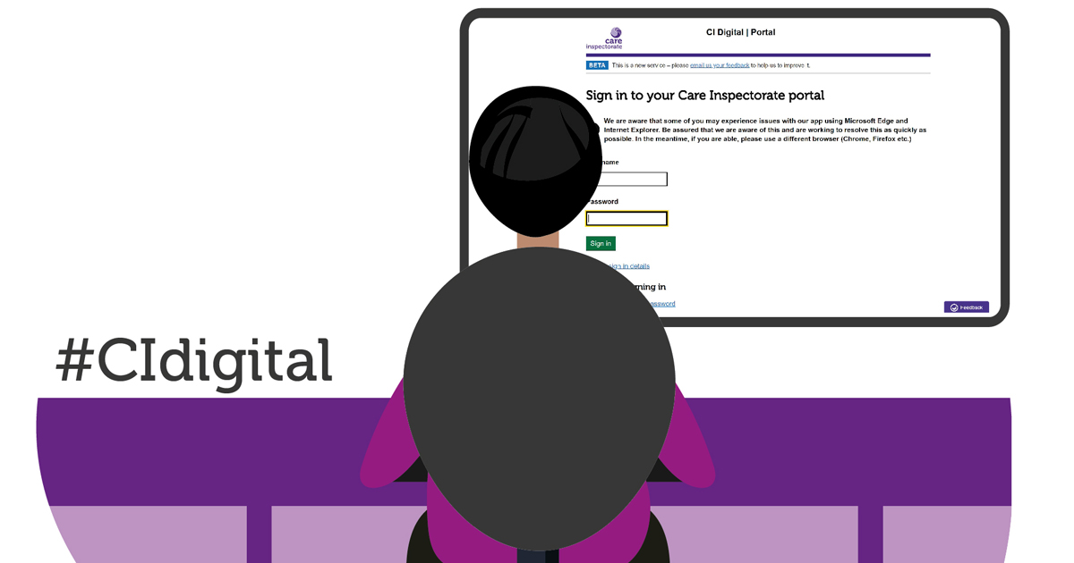 Applying for change of details on the digital portal